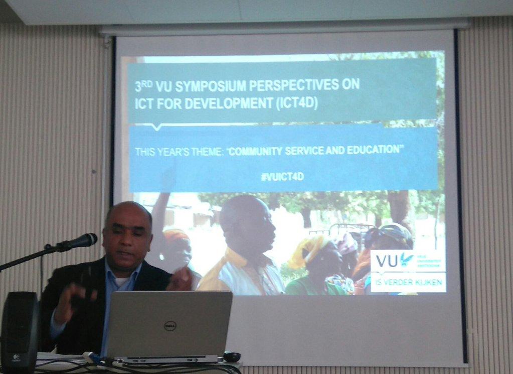VU Rector Subramaniam opens the symposium